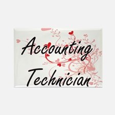 Accounting Technician Artistic Job Design Magnets