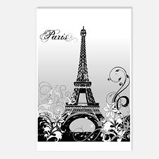 Eiffel Tower Paris (B/W) Postcards (Package of 8)