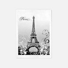 Eiffel Tower Paris (B/W) 5'x7'Area Rug