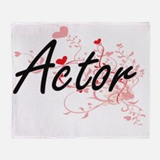 Actor Artistic Job Design with Heart Throw Blanket