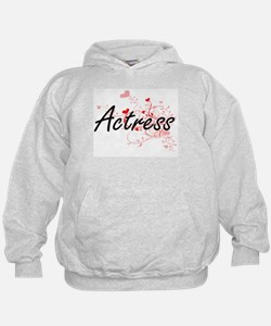 Actress Artistic Job Design with Heart Hoodie