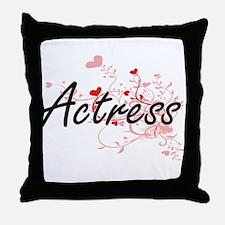 Actress Artistic Job Design with Hear Throw Pillow