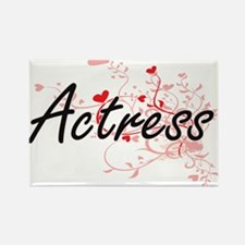Actress Artistic Job Design with Hearts Magnets