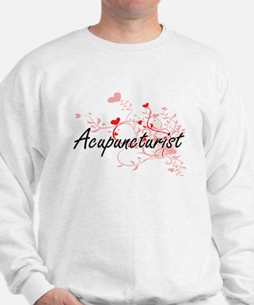 Acupuncturist Artistic Job Design with Sweatshirt