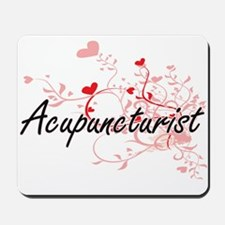 Acupuncturist Artistic Job Design with H Mousepad