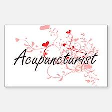 Acupuncturist Artistic Job Design with Hea Decal