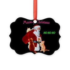 Santa And Cats Ornament