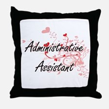 Administrative Assistant Artistic Job Throw Pillow