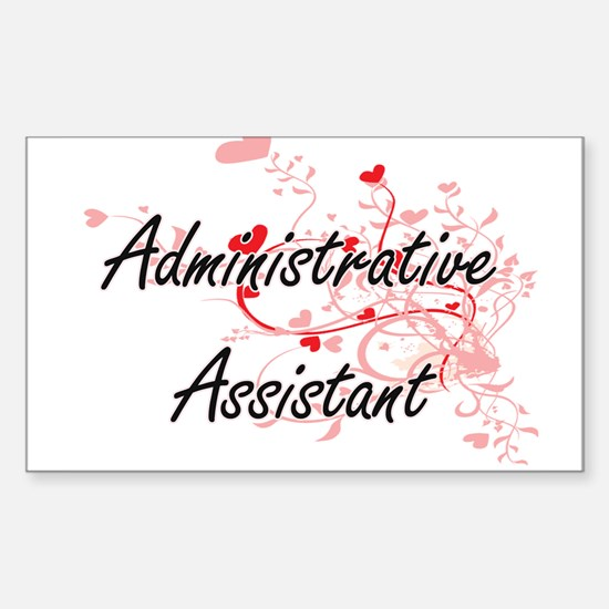 Administrative Assistant Artistic Job Desi Decal
