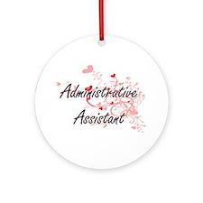 Administrative Assistant Artistic J Round Ornament