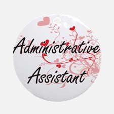 Administrative Assistant Artistic J Round Ornament