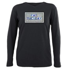 Fat Tuesday Tiles.png Plus Size Long Sleeve Tee