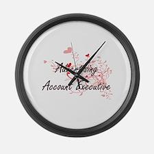 Advertising Account Executive Art Large Wall Clock