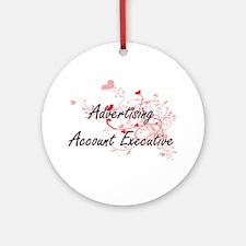 Advertising Account Executive Artis Round Ornament