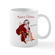 Santa And Cats Mug