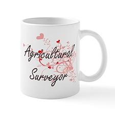 Agricultural Surveyor Artistic Job Design wit Mugs