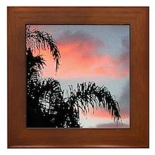 tropical sunrise Framed Tile