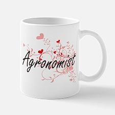 Agronomist Artistic Job Design with Hearts Mugs