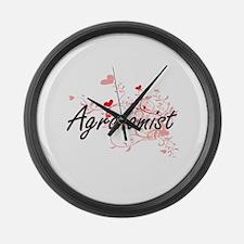 Agronomist Artistic Job Design wi Large Wall Clock