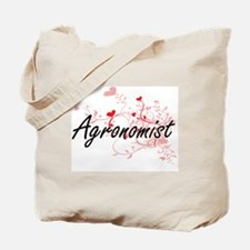 Agronomist Artistic Job Design with Heart Tote Bag