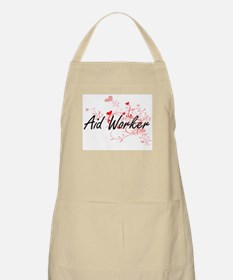 Aid Worker Artistic Job Design with Hearts Apron