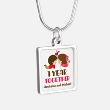 1st Anniversary Personalized 1 year Necklaces