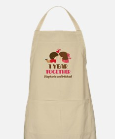 1st Anniversary Personalized 1 year Apron