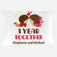 1st Anniversary Personalized 1 year Pillow Case