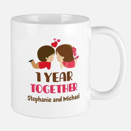 1st Anniversary Personalized 1 year Mugs