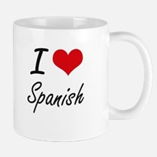 I Love Spanish artistic design Mugs