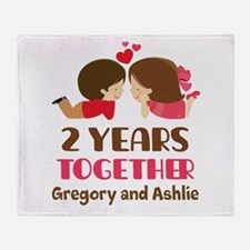 2nd Anniversary personalized Throw Blanket