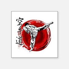 """Cute Shotokan tiger Square Sticker 3"""" x 3"""""""