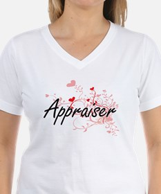 Appraiser Artistic Job Design with Hearts T-Shirt
