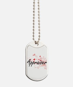 Appraiser Artistic Job Design with Hearts Dog Tags