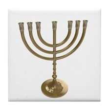 hannukah menorah Tile Coaster