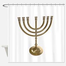 hannukah menorah Shower Curtain