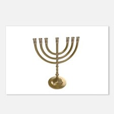 hannukah menorah Postcards (Package of 8)