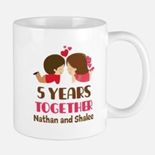 5th Anniversary 5 Years Together Mugs