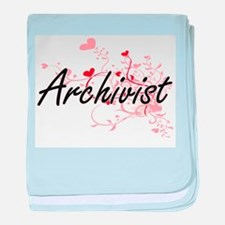 Archivist Artistic Job Design with He baby blanket