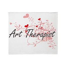 Art Therapist Artistic Job Design wi Throw Blanket