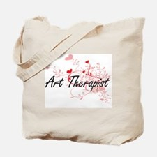 Art Therapist Artistic Job Design with He Tote Bag