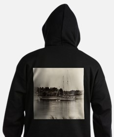Anchored Sailboats Hoodie (dark)