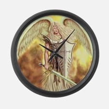 Angel Michael Large Wall Clock