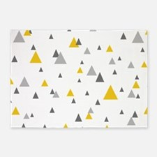 Pastel tone triangles modern geomet 5'x7'Area Rug