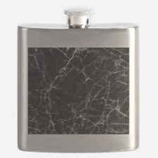 Black marble stone gray accents Flask
