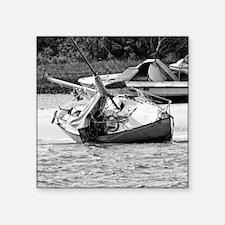 """Shipwrecked Square Sticker 3"""" X 3"""""""