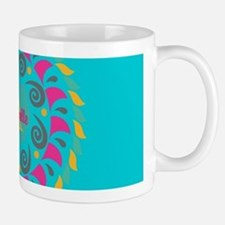 Turquoise Personalized Monogram Mugs
