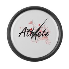 Athlete Artistic Job Design with Large Wall Clock