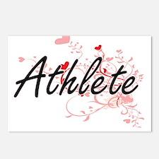 Athlete Artistic Job Desi Postcards (Package of 8)
