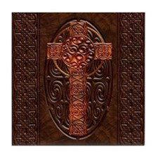 Harvest Moons Celtic Cross Tile Coaster